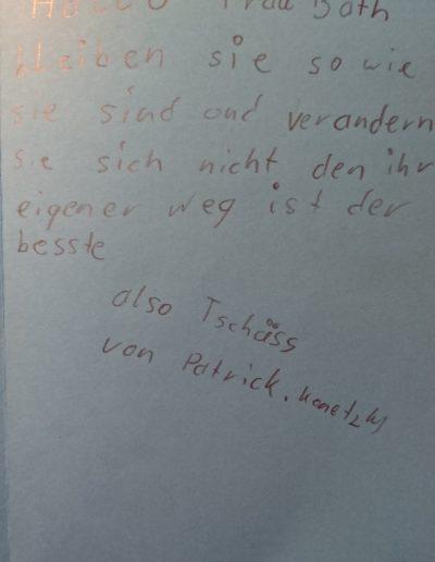 Abschiedsbrief von Schüler