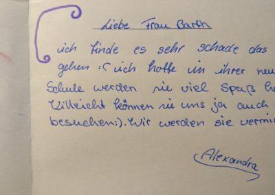 Brief von Schülerin (2)