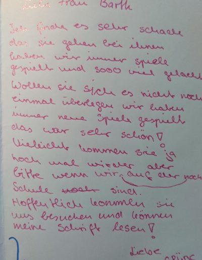 Brief von Schülerin 3